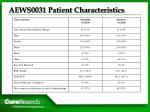 aews0031 patient characteristics