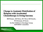 change in anatomic distribution of relapses with accelerated chemotherapy in ewing sarcoma