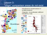 lesson 3 virgin comparison areas do not exist
