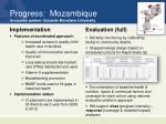 progress mozambique in country partner eduardo mondlane university