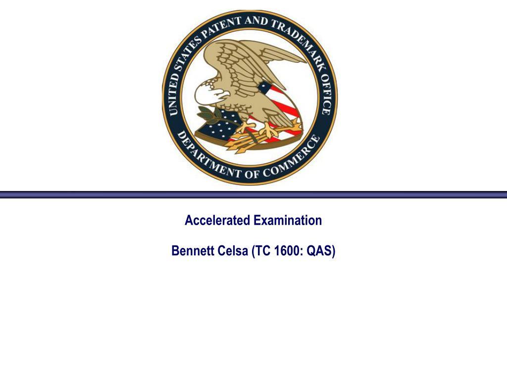 accelerated examination bennett celsa tc 1600 qas l.