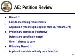 ae petition review