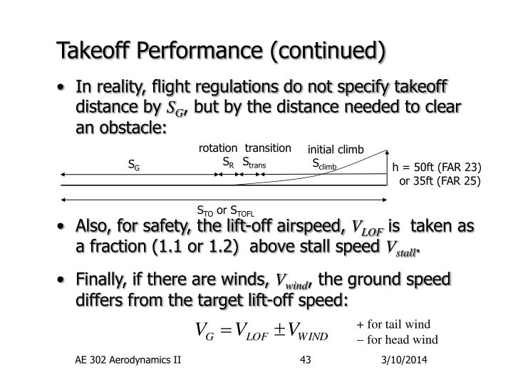 Takeoff performance continued