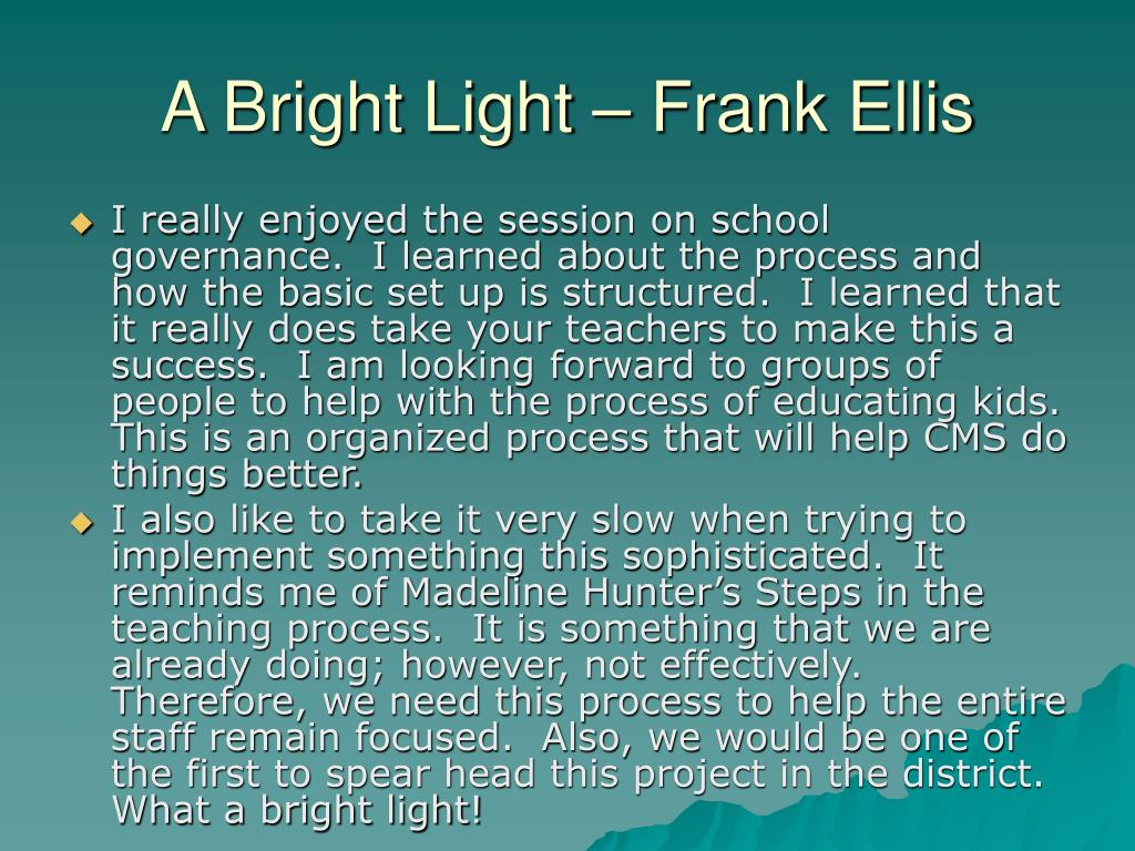 A Bright Light – Frank Ellis