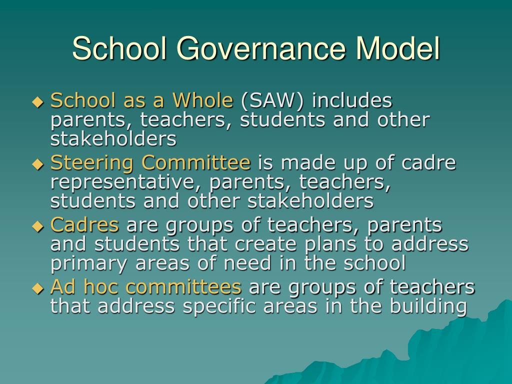 School Governance Model