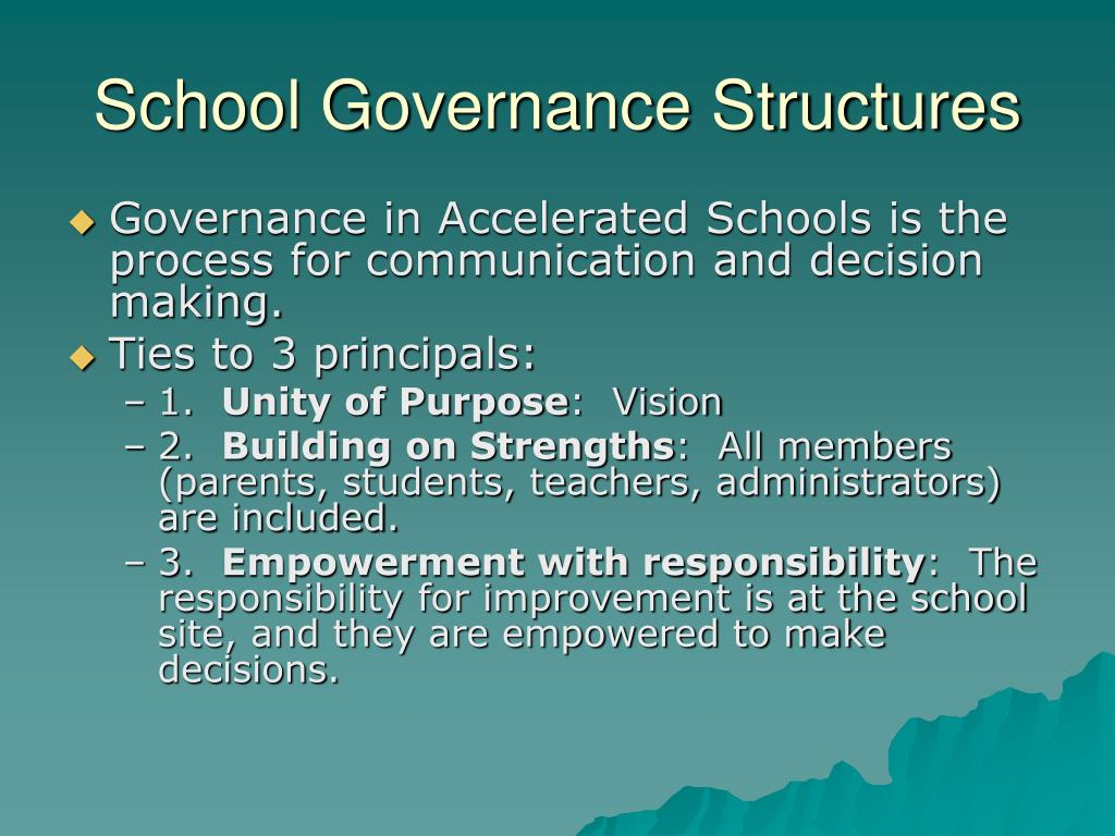 School Governance Structures