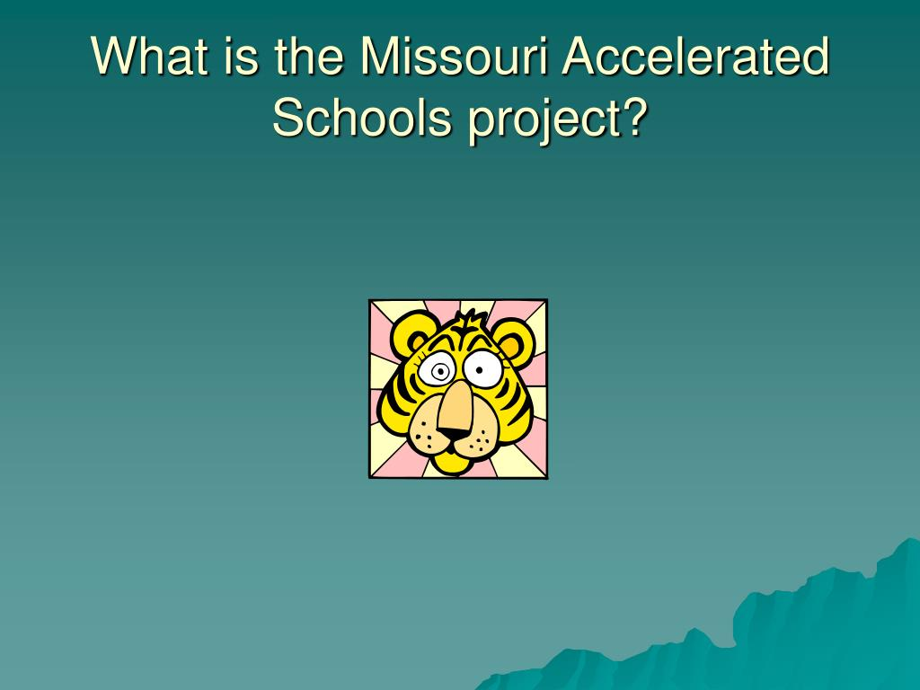 What is the Missouri Accelerated Schools project?
