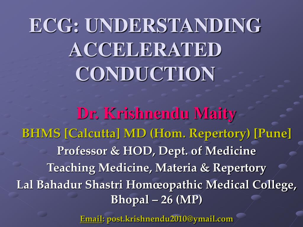 ecg understanding accelerated conduction l.