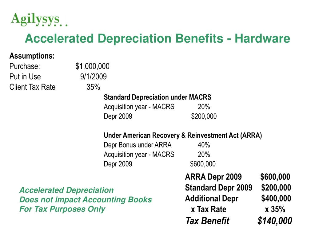 accelerated depreciation benefits hardware l.