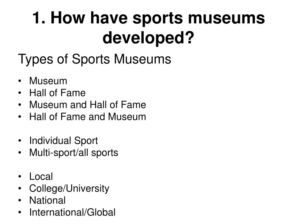 1. How have sports museums developed?