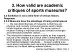 3 how valid are academic critiques of sports museums30