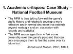 4 academic critiques case study national football museum
