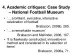 4 academic critiques case study national football museum32