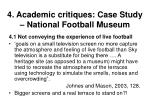 4 academic critiques case study national football museum33