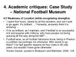 4 academic critiques case study national football museum37
