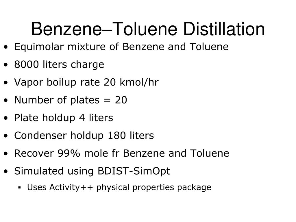 Equimolar mixture of Benzene and Toluene