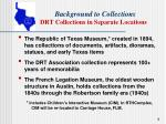 background to collections drt collections in separate locations