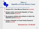 phase 2 republic of texas history center