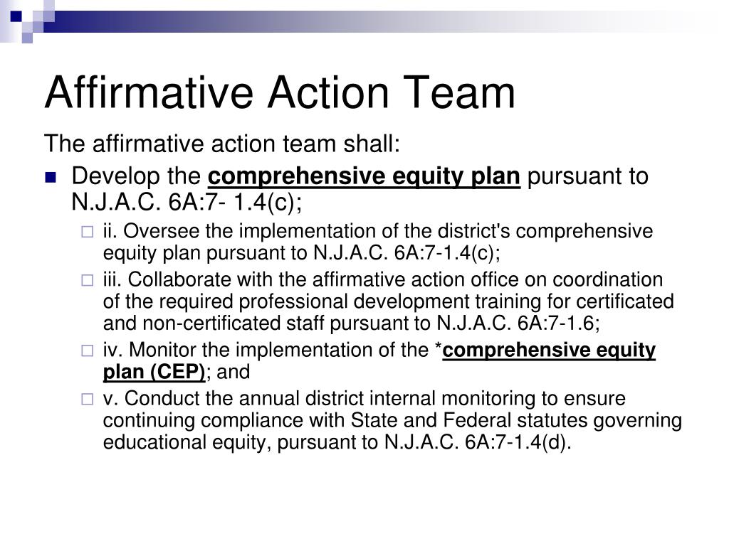 Affirmative Action Team