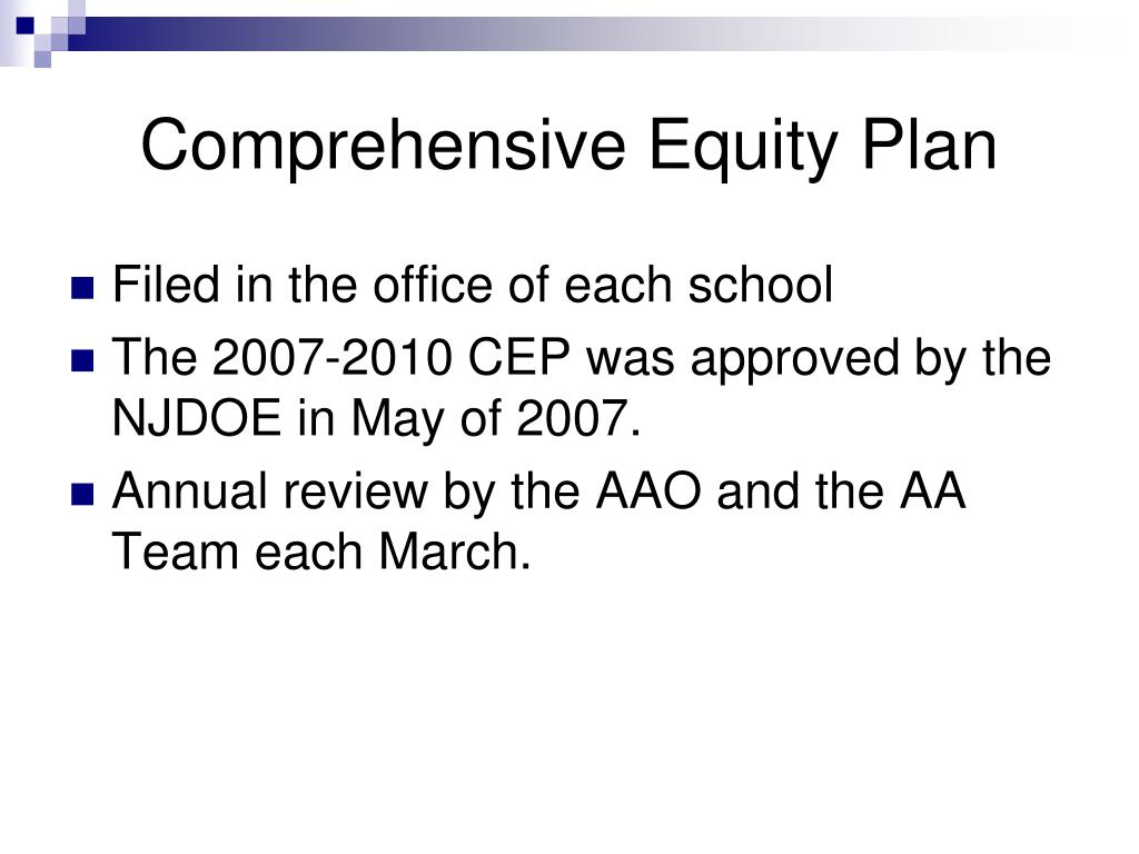 Comprehensive Equity Plan
