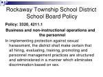 rockaway township school district school board policy17