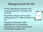 background of the ita