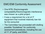 emc emi conformity assessment