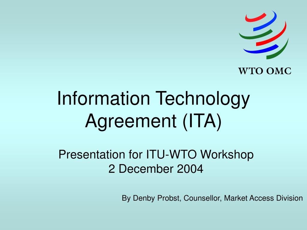 information technology agreement ita l.