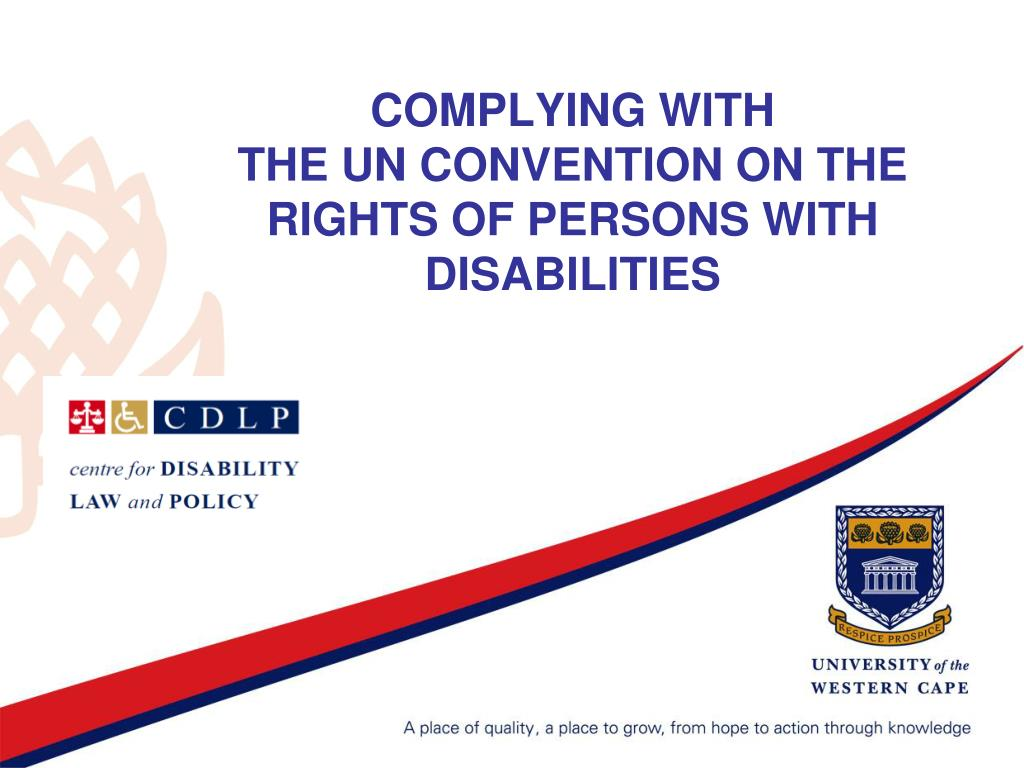 complying with the un convention on the rights of persons with disabilities l.