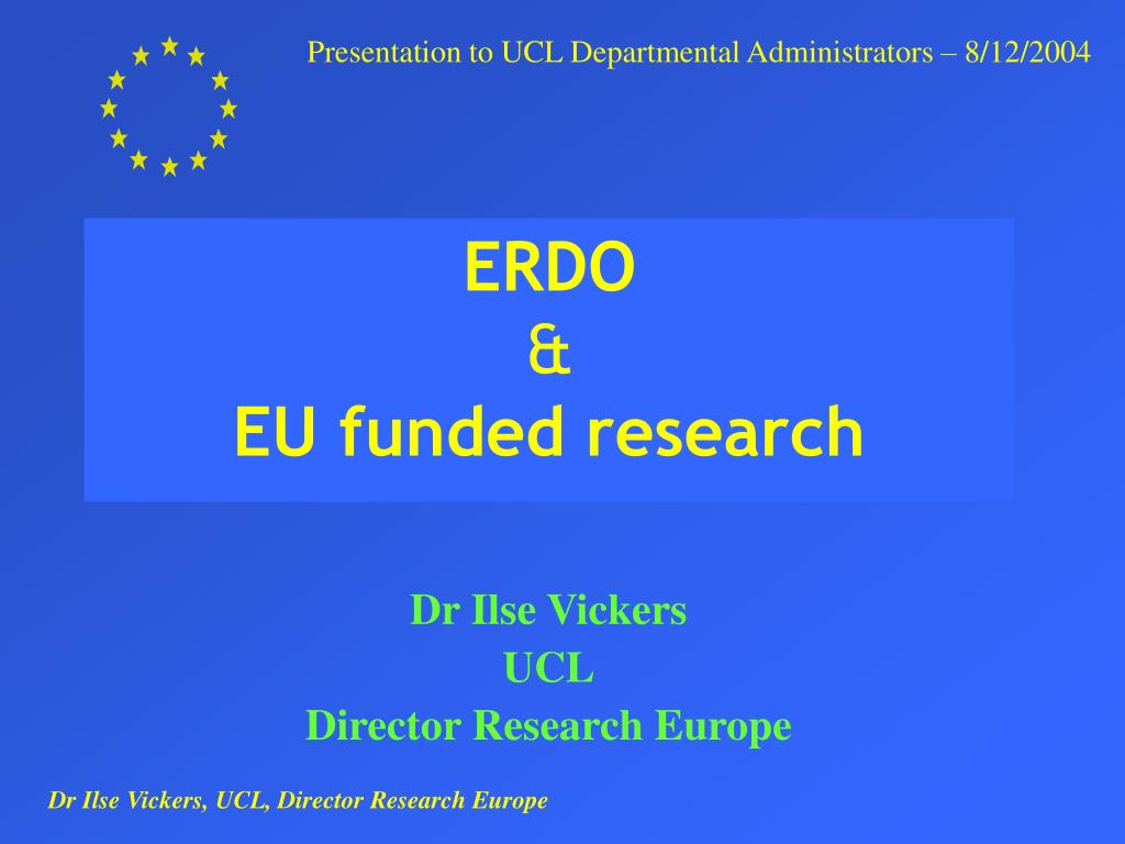 erdo eu funded research l.