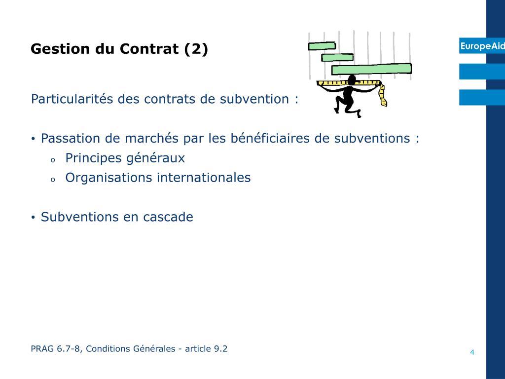 Gestion du Contrat (2)