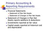primary accounting reporting requirements