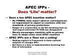 apec ipps does lite matter