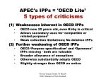 apec s ipps oecd lite 5 types of criticisms