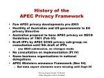 history of the apec privacy framework