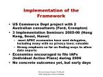 implementation of the framework