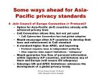 some ways ahead for asia pacific privacy standards29