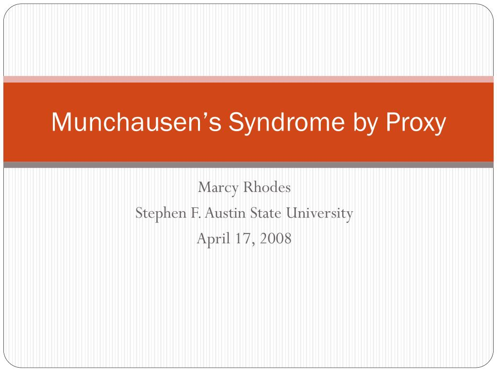 munchausen s syndrome by proxy l.