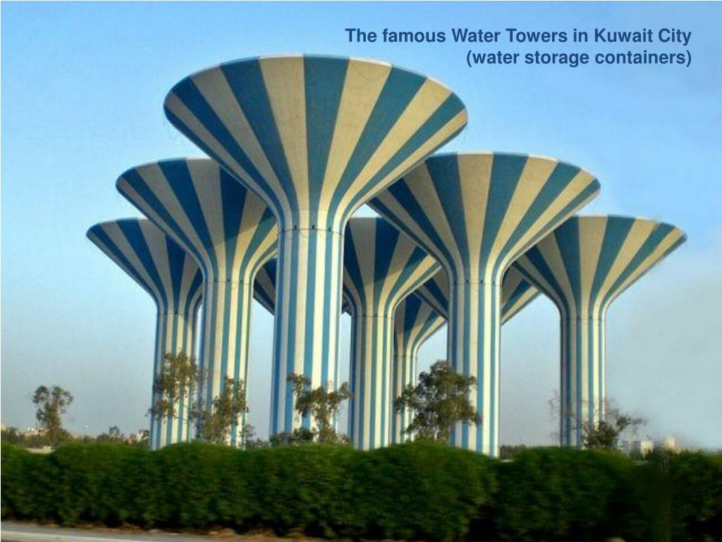 The famous Water Towers in Kuwait City