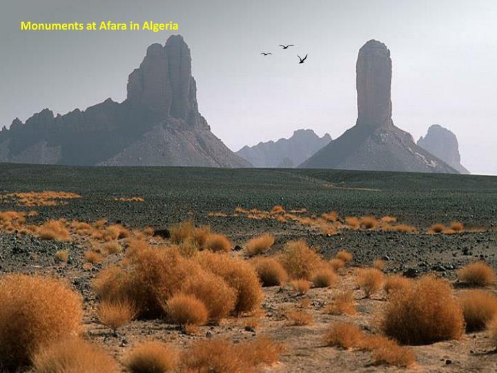 Monuments at Afara in Algeria