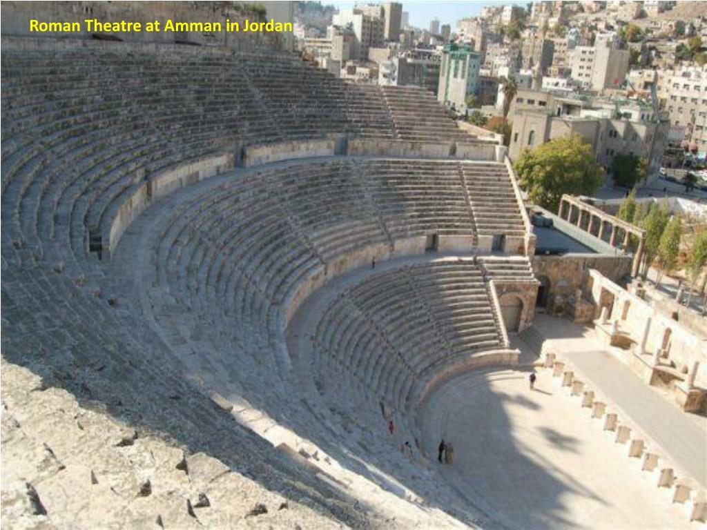 Roman Theatre at Amman in Jordan
