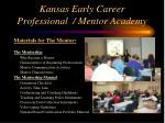 kansas early career professional mentor academy11