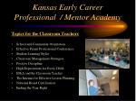 kansas early career professional mentor academy13