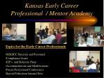 kansas early career professional mentor academy15