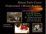 kansas early career professional mentor academy22