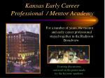 kansas early career professional mentor academy32