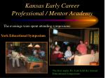 kansas early career professional mentor academy33