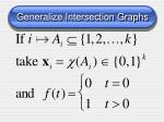 generalize intersection graphs