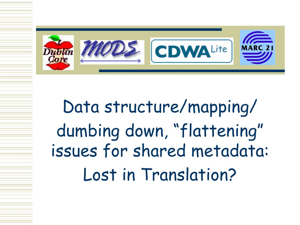Data structure/mapping/