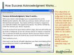 how success acknowledgment works